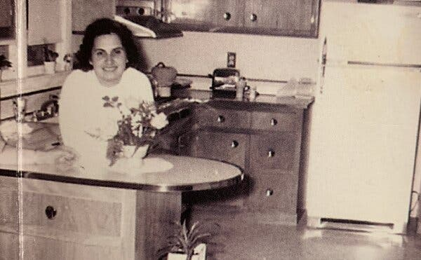 My mother in our home in Toms River, N.J.